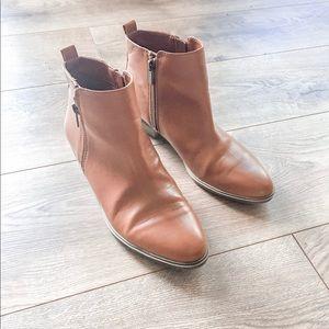 Chaps Cognac Ankle Boots